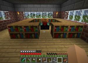 エンチャントテーブルと本棚