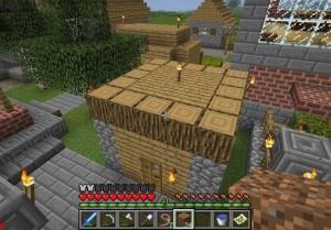 木造建築前
