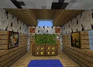 釣り小屋の内装
