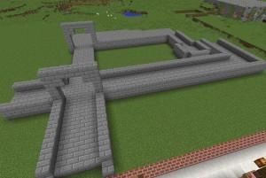 石レンガの城