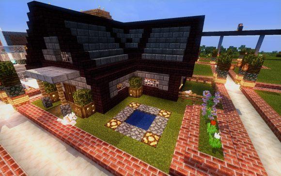 石レンガの家