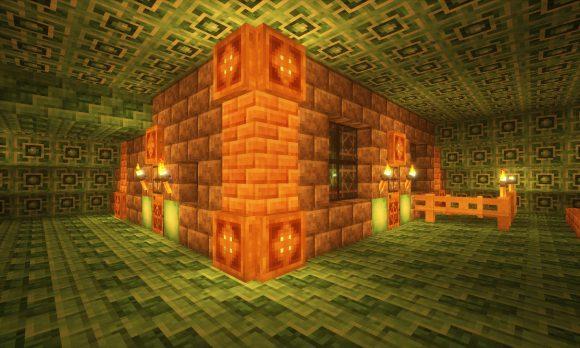 海底神殿の家